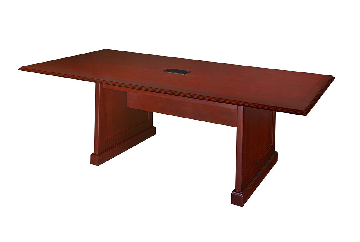 Premium 8 Foot Rectangular Conference Table in Rich Mahogany Finish