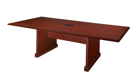 Premium 10 Foot Rectangular Conference Table in Rich Mahogany Finish