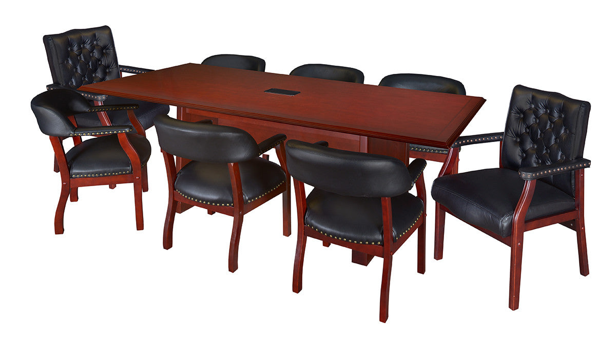 Or Foot Rectangular Conference Table In Mahogany Finish - 16 foot conference room table