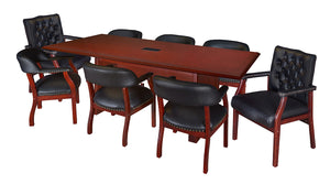 12 or 16 Foot Rectangular Conference Table in Mahogany Finish