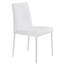 Load image into Gallery viewer, Premium White Leather Conference or Guest Chairs with Steel Legs (Set of 2)