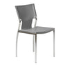 Classic Gray Leather Armless Guest or Conference Chair (Set of 4)