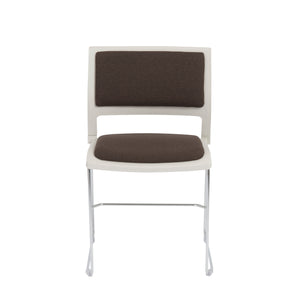 Charcoal Stackable Guest or Conference Chair w/ Steel Base (Set of 4)