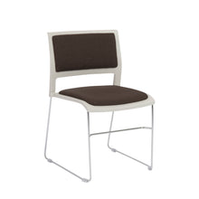 Load image into Gallery viewer, Charcoal Stackable Guest or Conference Chair w/ Steel Base (Set of 4)