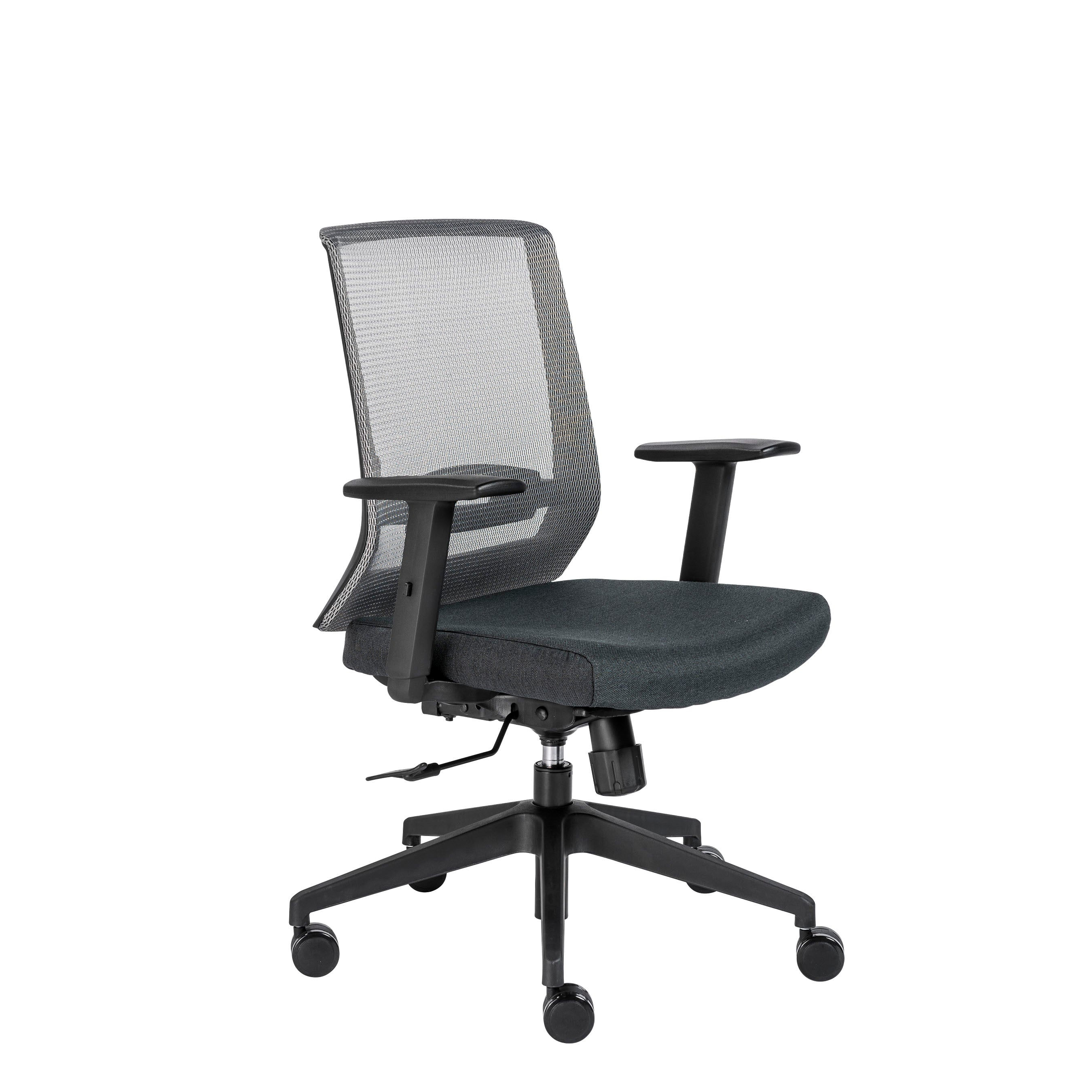 Traditional Rolling Mesh Office Chair In Gray Black W