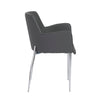 Comfortable Gray Leatherette Guest or Conference Armchair (Set of 2)