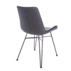 Classic Guest or Conference Chair in Black and Dark Gray (Set of 2)