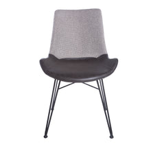 Load image into Gallery viewer, Classic Guest or Conference Chair in Black and Dark Gray (Set of 2)