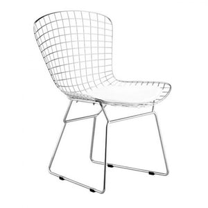 Elegant Guest or Conference Chair in Silver Wire Design (Set of 2)
