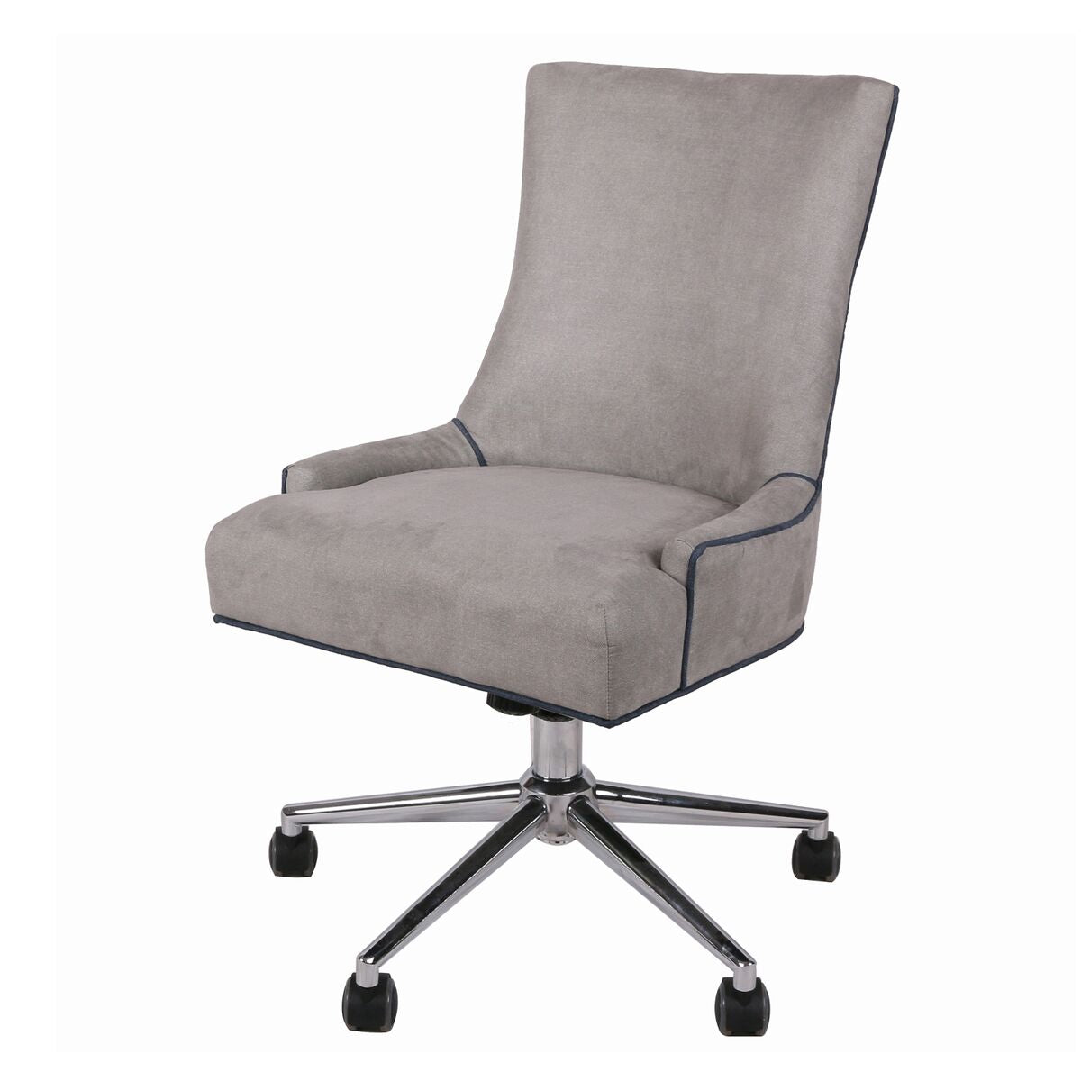 Fabric Rolling Office or Conference Chair in Soft Taupe