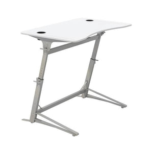 Standing Desk with Adjustable Height and White Finish