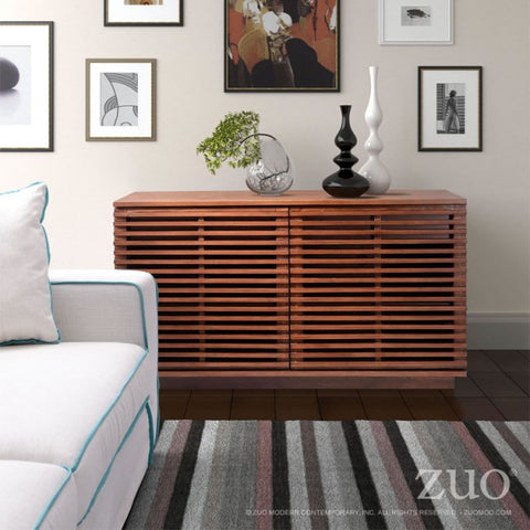 Modern Fir Wood Storage Credenza in Scandanavian Style