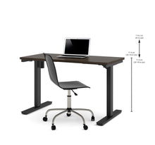 "Load image into Gallery viewer, 48"" Sit-Stand Electric Height-Adjustable Desk in Dark Chocolate (28"" - 45"" H)"
