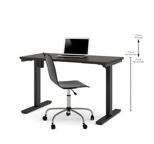 "48"" Sit-Stand Electric Height-Adjustable Desk in Dark Chocolate (28"" - 45"" H)"