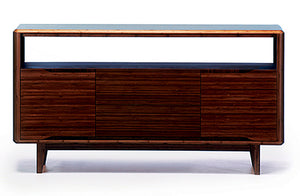 "Solid Bamboo 60"" Modern Executive Desk with Drawer in Dark Walnut"