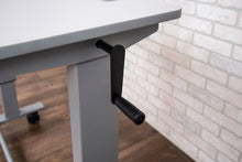 "Load image into Gallery viewer, Sit-Stand 48"" Gray Office Desk w/ Castors and Crank"
