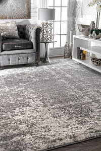 Thick Grey Distressed Rug (Multiple Sizes Available)