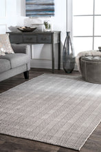 Load image into Gallery viewer, Classic Gray Office Floor Rug w/ Soft Textured Pattern (Multiple Sizes)