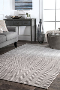 Classic Gray Office Floor Rug w/ Soft Textured Pattern (Multiple Sizes)