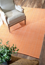 Load image into Gallery viewer, Classic Orange Office Floor Rug w/ Soft Textured Pattern (Multiple Sizes)