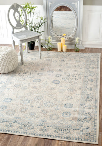 Floral Office Rug w/ Understated Design in Multiple Sizes