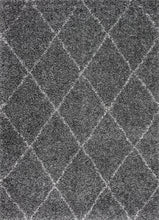 Load image into Gallery viewer, Dark Grey Office Rug w/ Crisscross Design (Multiple Sizes)