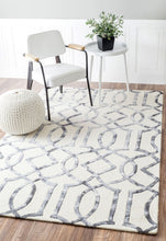 Load image into Gallery viewer, Sophisticated Geometric Wool Office Rug (Multiple Sizes)