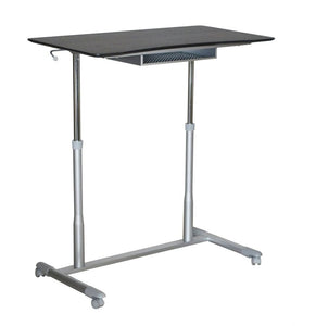 "Durable Espresso 37"" Sit-Stand Office Desk"
