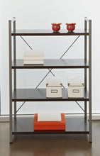 Load image into Gallery viewer, Eye-Catching X-Frame Bookcase w/ Espresso Finish