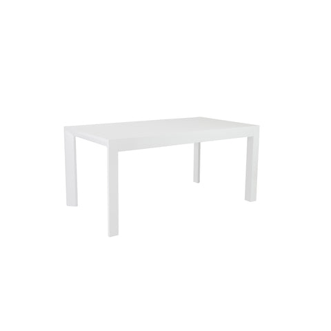 "63"" White Lacquer Office Desk with Beveled Edges"
