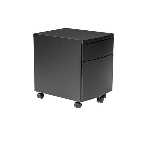 Black Steel Office Filing Cabinet on Wheels
