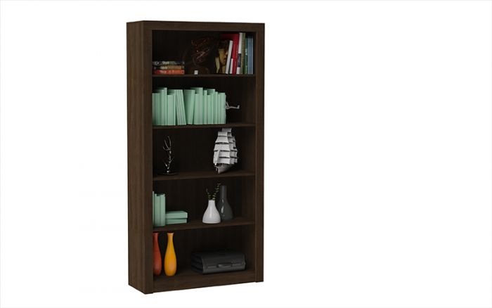 Chocolate Matte Bookcase w/ Conventional Design