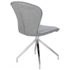 Gray Fabric & Stainless Steel Guest or Conference Swivel Chair