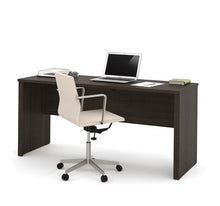 "Load image into Gallery viewer, Modern Narrow Dark Chocolate 66"" Office Desk"