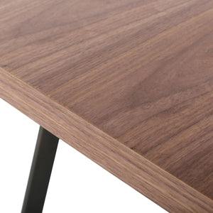 "79"" Executive Office Desk w/ Simple Design and Walnut Veneer"