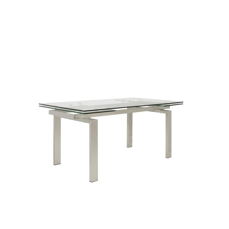 "Contemporary 63 - 95"" Glass Top Extension Conference Table"