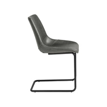 Load image into Gallery viewer, Grey Leatherette Conference or Guest Chairs with Black Base (Set of 2)