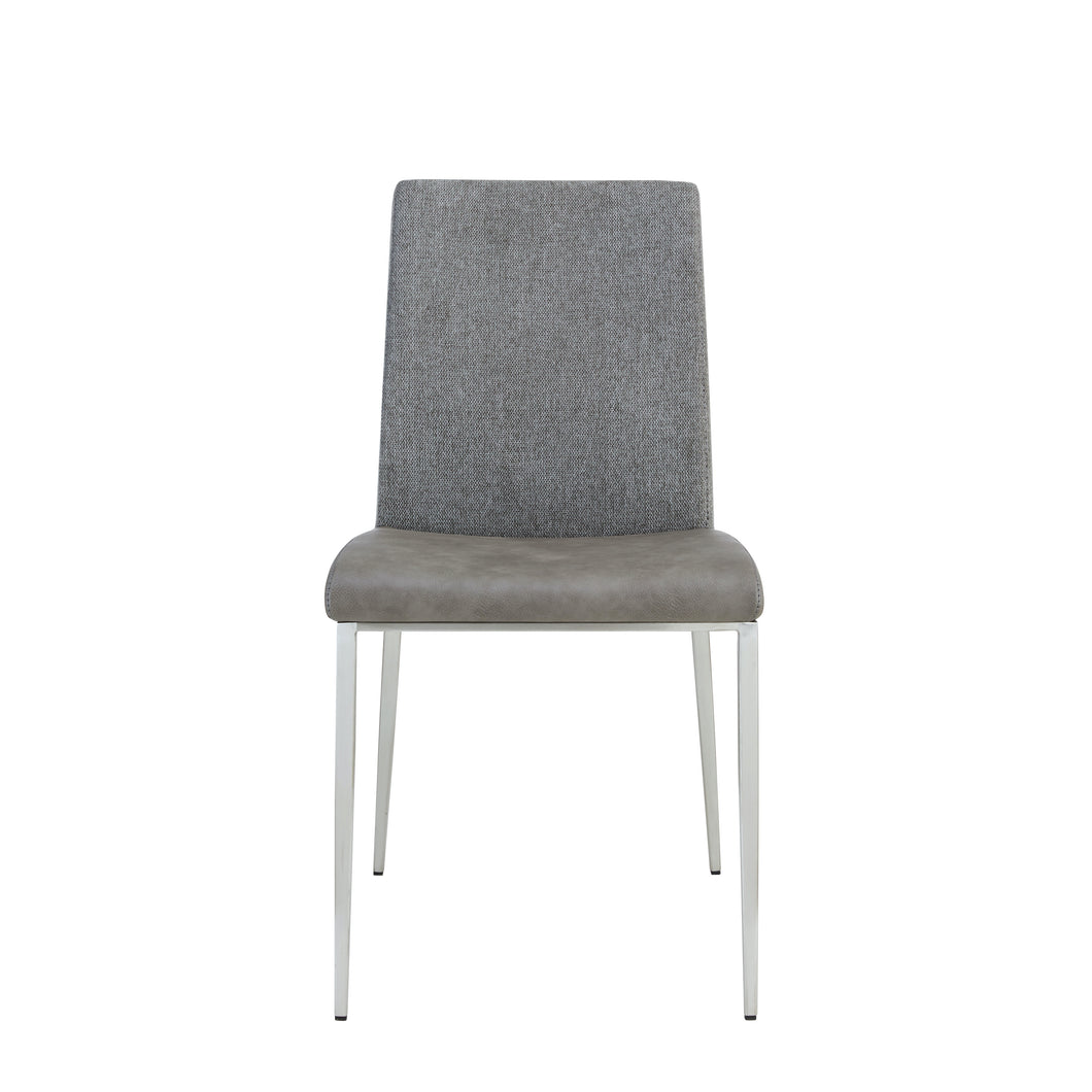 Light Gray Fabric & Leather Modern Guest / Conference Chair (Set of 2)