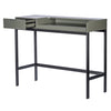 "Industrial Gray & Black Steel 35"" Office Desk"