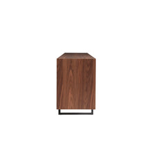 Load image into Gallery viewer, Walnut & Dark Gray Office Credenza w/ Modern Design
