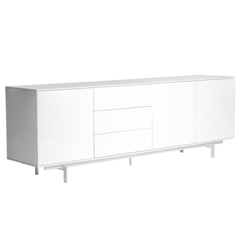 Gorgeous White Lacquer Office Credenza