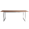 "American Walnut and Brushed Stainless Steel 84"" Executive Desk or Conference Table"