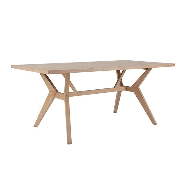 "Contemporary Oak Veneer 72"" Desk or Meeting Table in Brushed Wheat Finish"