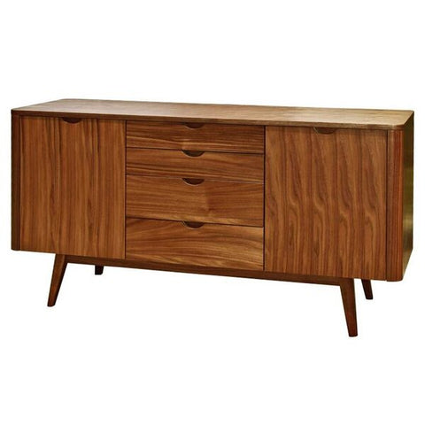 Classic Storage Credenza in African Teak and Walnut