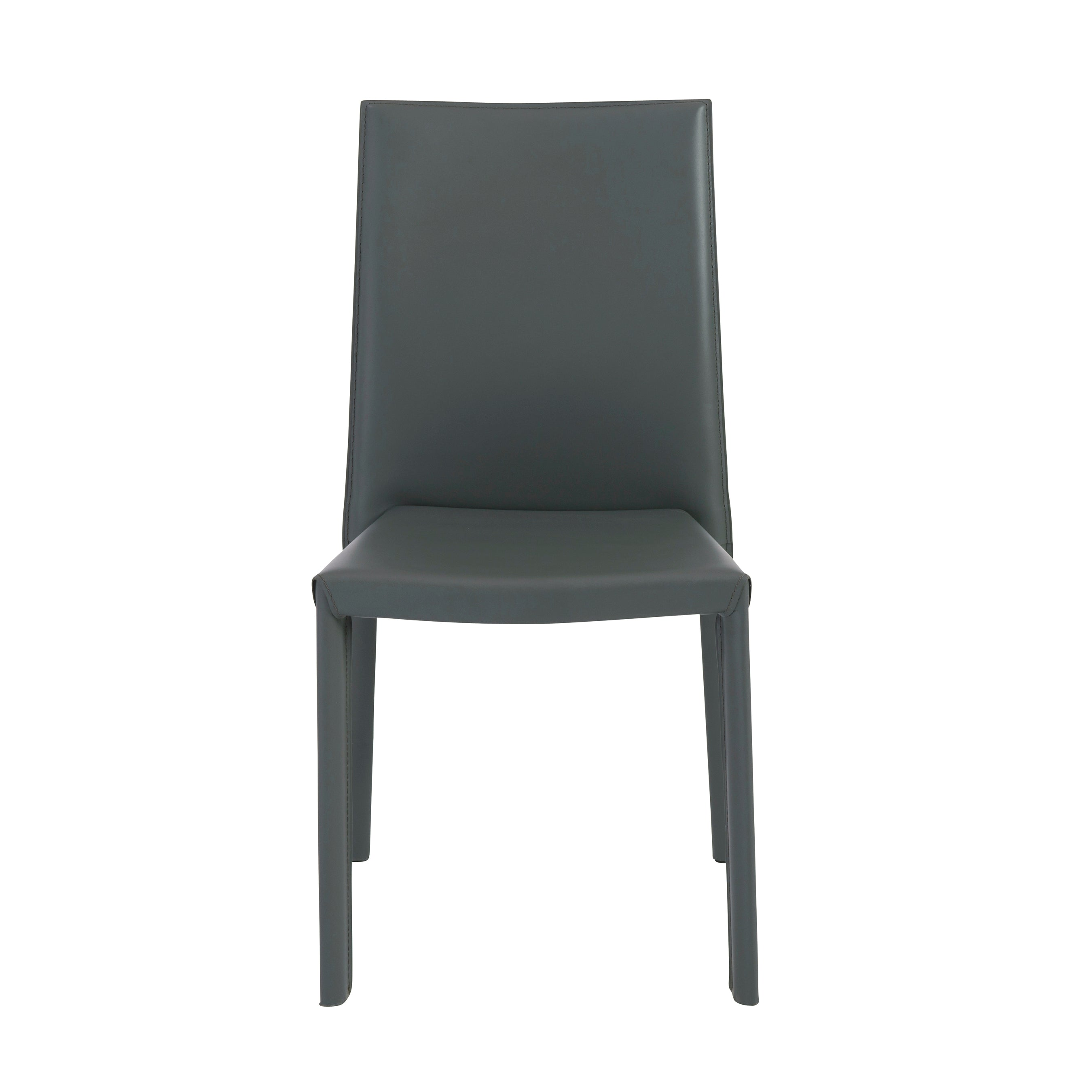 Gray Regenerated Leather Guest or Conference Chair (Set of 4)