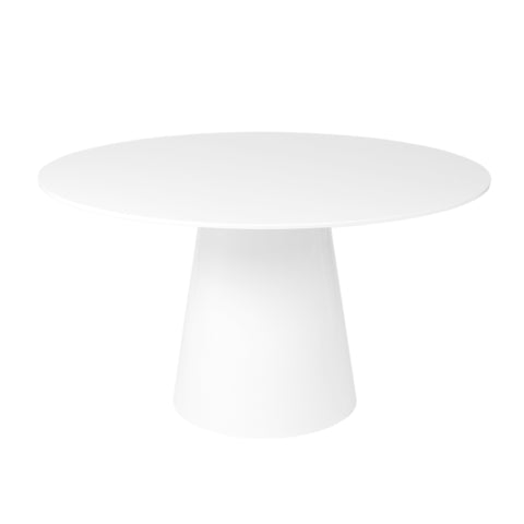 "53"" Round Meeting Table in White Lacquer"