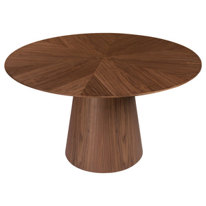 "53"" Round Meeting Table in Walnut"