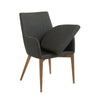 Modern Arm Guest or Conference Chair in Charcoal (Set of 2)