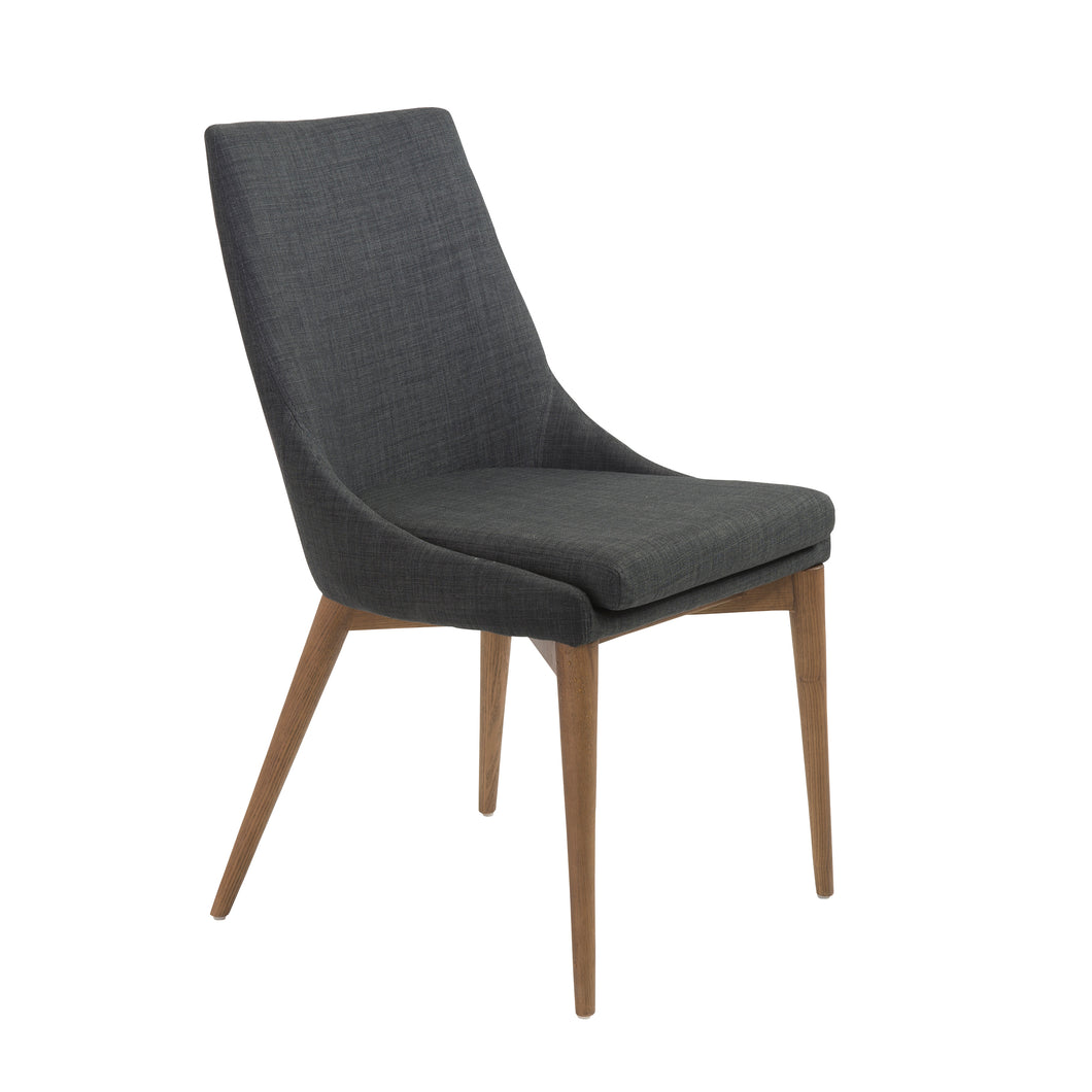 Modern Armless Guest or Conference Chair in Charcoal (Set of 2)