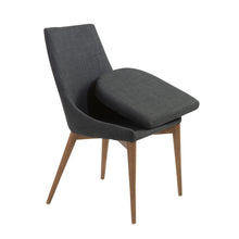 Load image into Gallery viewer, Modern Armless Guest or Conference Chair in Charcoal (Set of 2)